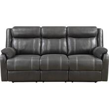 DOMINO Casual reclining sofa with drop-down table- Valor Carbon