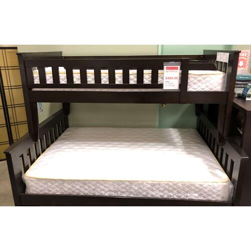 Twin/Full Wood Bunk Bed - Different Colors Available