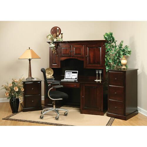 Ashery Oak - Traditional Desk with Hutch
