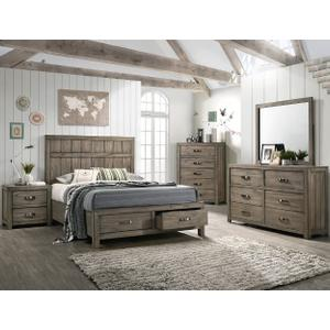 Arcadia Kg Bed, Dresser, Mirror, Chest and Nightstand