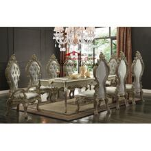 Homey Desing HD13012 Champagne Dining Room set Houston Texas
