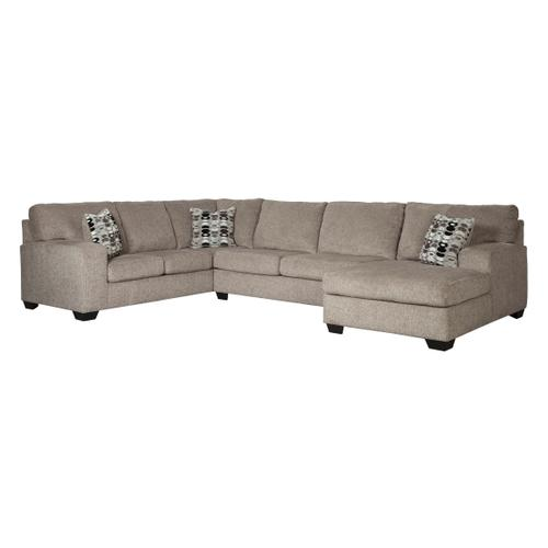 Ballinasloe - Platinum - 3-Piece Sectional with Right Facing Chaise