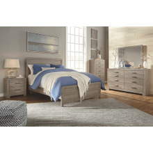 Culverbach - Gray - 7 Pc. - Dresser, Mirror, Chest, Nightstand & Queen Panel Bed