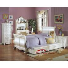 Acme 010101 Pearl White Finish Sleigh Bedroom set Houston Texas USA Aztec Furniture