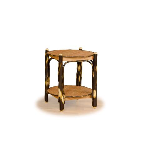 Brage Rustic Collection - Hickory 2 Tier Round End Table