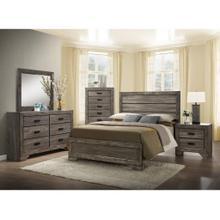 See Details - Nathan Collection - Queen Weathered Gray Bed