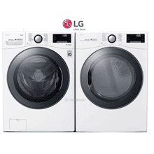 LG Front Load Laundry Pair with turbowash