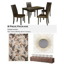 Kimonte 8 Piece Dining Room Package