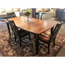 Leg Table with 1 Leaf and 6 Side Chairs