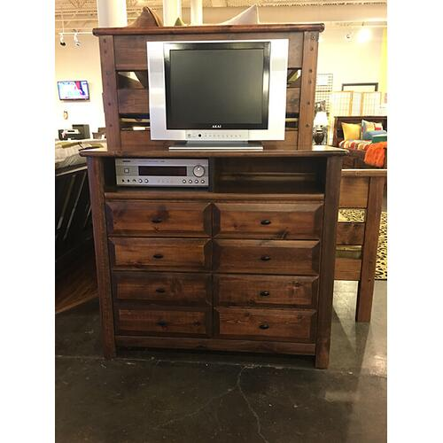 6 Drawer Media Chest American Chestnut