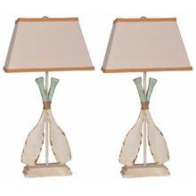 View Product - Whitewash Oar Lamp (2/CN)