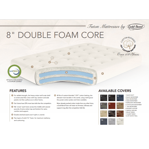 Double Foam Futon Mattress