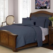 Ana Indigo King Quilt Set