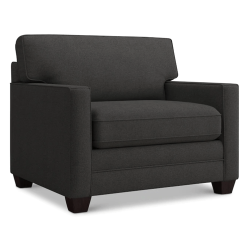 Bassett Furniture - Alex Track Arm Chair and a Half - Charcoal