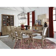 See Details - Trestle Table & 8 Chairs