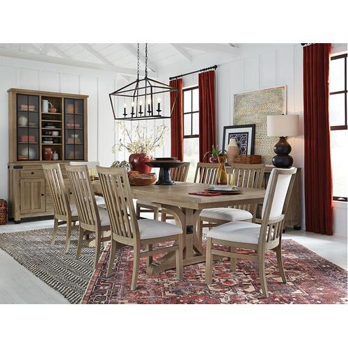 Magnussen Home - Trestle Table & 8 Chairs