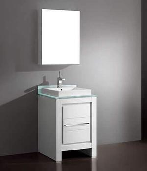 """VICENZA 23-5/8"""" VANITY ONLY - GLOSSY WHITE Product Image"""
