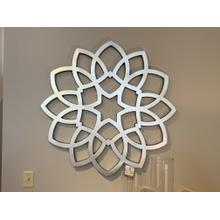 Silver Mandala Wall Art