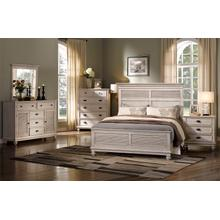 Lakeport 5/0 Queen Bedroom Set 5pc-(BED,DR,MR,NS,CH) - Driftwood
