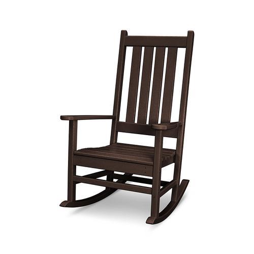 Vintage Coffee Vineyard Porch Rocking Chair