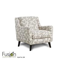 Accent Chair White & Brown