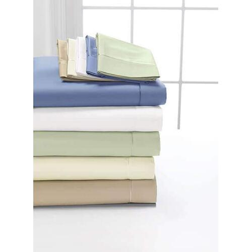 Pima Cotton Sheet Set Available in (White, Soft Linen, Taupe, Celadon, Blue)