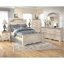 View Product - Catalina - Queen Poster Bed, Dresser, Mirror, & 1 x Nightstand