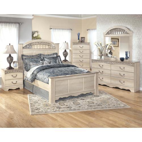 Catalina - Queen Poster Bed, Dresser, Mirror, & 1 x Nightstand