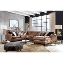Baskove Leather Sectional