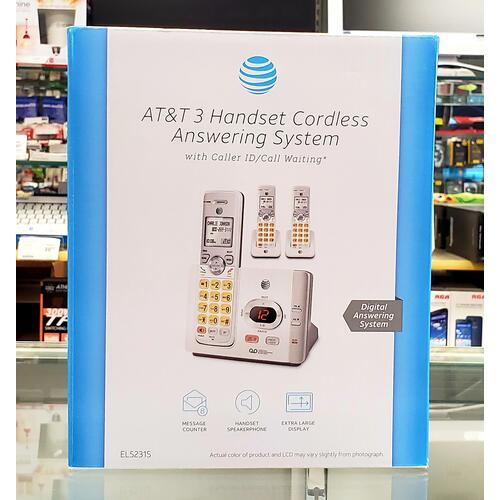 AT&T - AT&T 3 Handset Cordless Answering System