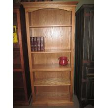 """View Product - Bookcase 32"""" x 76""""h Solid Oak"""