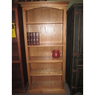 """See Details - Bookcase 32"""" x 76""""h Solid Oak"""