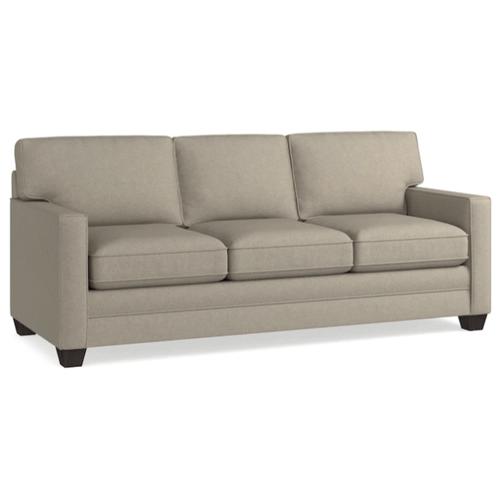 Bassett Furniture - Alex Track Arm Sofa - Straw