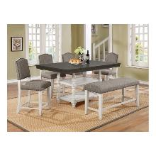 Clover 5pc Dining Room Set Plus Bench