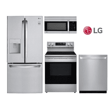LG Kitchen with French Door Refrigerator in Stainless Steel