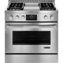 On Display!  Pro-Style Gas Range with Griddle and MultiMode Convection, 36""
