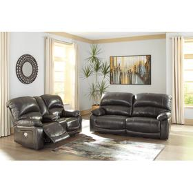 See Details - Hallstrung Pwr Rec Sofa & Loveseat Fcon Fadj Hdrst Gray