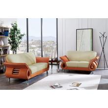 Loveseat Bei/Orange