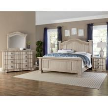 Rustic Hills 8pc King Bedroom Set Spiced Cream Finish