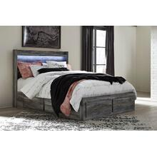 Beautiful Queen Platform Bed with LED Headboard, Storage Footboard & Side Storage