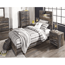 Drystan - Multi - Twin Panel Bed