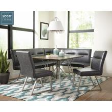 Scott Living Booth Style 5 Piece Dining Set