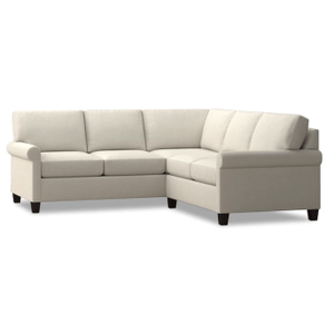 Spencer Small Sectional - Cream Fabric