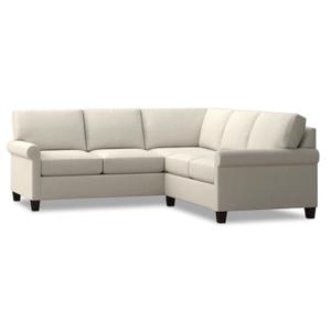 Bassett Furniture - Spencer Small Sectional - Cream Fabric
