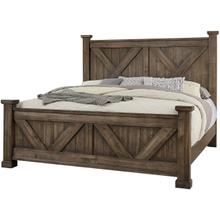 Queen Cool Rustic Mink X Bed