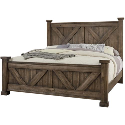 Vaughan-Bassett - Queen Cool Rustic Mink X Bed