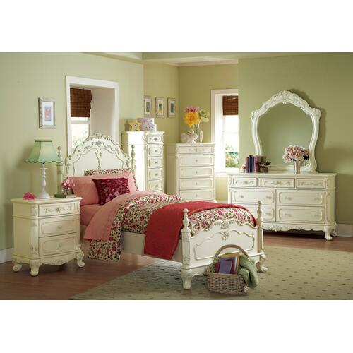Twin Bed. Cinderella Collection. Bed Frame Only