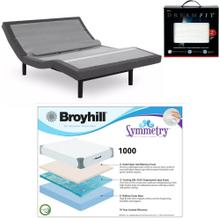 Leggett & Platt Prodigy Comfort Elite Adjustable Bed, Broyhill 1000 Cool Gel Memory Foam Mattress, and set of Dreamfit Sheets