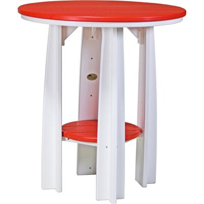 Balcony Table Red and White