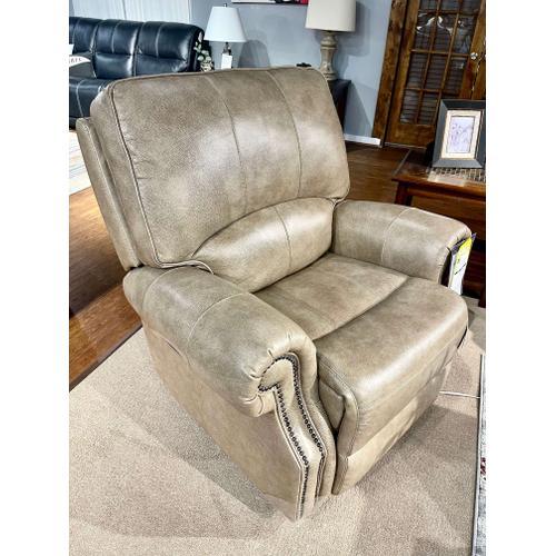 Bassett Furniture - Power Leather Prescott Wall Saver Recliner